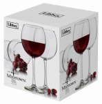 Libbey Glass 7505S4 Red Wine Glass Barware, 4-Pc. Set