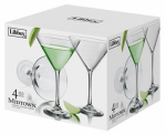 Libbey Glass 7507S4B Martini Glass Barware, 4-Pc. Set