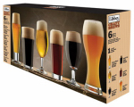 Libbey Glass 80681 Craft Beer Glass Barware, 6-Pc. Set