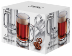 Libbey Glass 89587 Heidelberg Beer Mug Barware, 4-Pc. Set