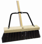 Quickie Mfg 00649HDSUTRI Job Site Pushbroom, 16-In.