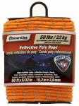 Wellington Cordage RMFPO3250 Poly Rope, Reflective, Orange, 5/32-In. x 50-Ft.