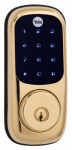 Yale Security YRD220-NR-605 Electronic Deadbolt Lock, Touch Screen Keypad, Polished Brass