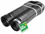 Amerimax Home Products 50710 Flex Drain, Expandable, Solid Black Polyethylene, 4-In. x 12-Ft.