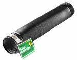 Amerimax Home Products 54001 Flex Drain, Expandable, Solid Black Polyethylene, 4-In. x 8-Ft.