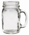 Jarden Home Brands 41702 Glass Drinking Mug, Threaded Mouth, 16-oz.