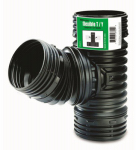 Amerimax Home Products 53702 Flex Drain Wye Or Tee Fitting, Black