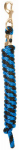 Weaver Leather 35-2100-T24 Horse Lead Rope, Cornflower Blue & Black Poly, 10-Ft.
