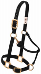 Weaver Leather 35-7035-BK Horse Halter With Snap, Adjustable, Black Nylon, 1-In., Average/Yearling