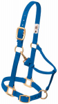 Weaver Leather 35-7035-BL Horse Halter With Snap, Adjustable, Blue Nylon, 1-In., Average/Yearling