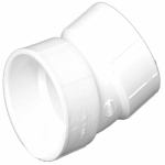 Charlotte Pipe & Foundry PVC 00324  0600HA Plastic Pipe Fitting, DWV  Elbow, 22-1/2-Degree, PVC, 1-1/2-In.