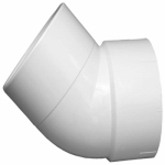 Charlotte Pipe & Foundry PVC 00323  0800HA Plastic Pipe Fitting, DWV  Street Elbow, 45-Degree, PVC, 1-1/2-In.