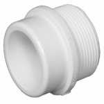 Charlotte Pipe & Foundry PVC 00111  0800HA Plastic Pipe Fitting, DWV  Spigot x MIP Thread Adapter, 1-1/2-In.