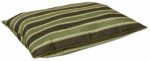 Petmate 26548 Pet Bed, Green Stripe, 27 x 26-In.