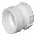 Charlotte Pipe & Foundry PVC 00104R 0600HA Plastic Pipe Fitting, DWV  Female Trap Adapter, Hub x Slip Joint Nut