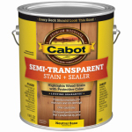 Cabot/Valspar 16306-07 Semi-Transparent Deck & Siding Stain, Neutral Base, 1-Gal.