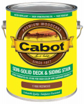 Cabot/Valspar 17480-07 Semi-Solid Deck & Siding Stain (VOC) Redwood - Gallon