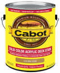 Cabot/Valspar 1816-07 Solid Color Acrylic Deck Stain New Cedar - Gallon