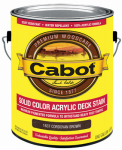Cabot/Valspar 1837-07 Solid Color Acrylic Deck Stain Cordovan Brown - Gallon