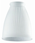 Westinghouse Lighting 8109400 Pleated Frosted Glass Ceiling Fan Light Shades, Must Purchase in Quantities of 6