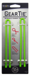 Nite Ize GT12-2PK-17 Gear Tie Reusable Twist Tie, Lime Rubber, 12-In., 2-Pk.