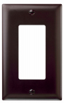 Pass & Seymour TP26CC15 Wall Plate, Single, Brown Nylon