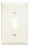 Pass & Seymour TPJ1LACC70 Legrand One Toggle Switch Opening Nylon Wall Plate, One Gang, Almond