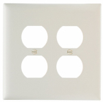 Pass & Seymour TPJ82LACC10 Legrand Double Duplex Outlet Opening Nylon Wall Plate, 2 Gang, Almond