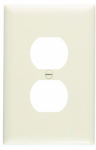 Pass & Seymour TPJ8LACC70 Legrand One Duplex Outlet Opening Nylone Wall Plate, One Gang, Almond