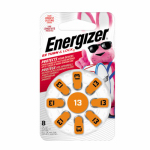 Eveready Battery AZ13DP-8 Hearing Aid Batteries 1.4-Volt Zinc Air, 8-Pack, AZ13DP-8