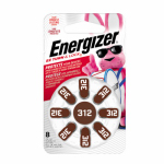Eveready Battery AZ312DP-8 Hearing Aid Batteries 1.4-Volt Zinc Air, 8-Pack, AZ312DP-8