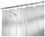 Interdesign 21981 Shower Curtain, Rain, Clear, 72 x 72-In.