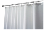 Interdesign 22780 Shower Curtain, Carlton, White Polyester, 72 x 72-In.