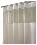 Interdesign 26680 Shower Curtain, Hitchcock, Clear, 72 x 72-In.