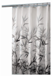 Interdesign 36527 Shower Curtain, Anzu, White/Grey Polyester, 72 x 72-In.