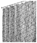 Interdesign 36920 Shower Curtain, Abstract, Black/White Polyester, 72 x 72-In.