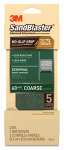 3M 11060-G Sandblaster No Slip Grip Sandpaper, 60-Grit, Green, 3-2/3 x 9-In., 5-Pk.