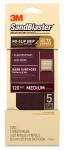 3M 11120-G Sandblaster No Slip Grip Sandpaper, 120-Grit, Maroon, 3-2/3 x 9-In., 5-Pk.