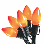 Noma/Inliten-Import V32527 Halloween Light Set, C9, Orange Ceramic, 25-Ct.