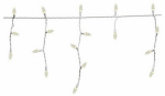 Noma/Inliten-Import 47690-88 Christmas Lights Set, Warm White Icicle LED, 105-Ct.