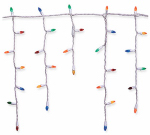 Noma/Inliten-Import 47692-88 Christmas Lights Set, Multi-Color Icicle LED, 105-Ct.