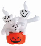 Citi Talent 90-225-087 Halloween Inflatable Lawn Decoration, Stacked Ghosts, Lighted, 48-In.