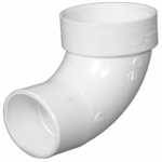 Charlotte Pipe & Foundry PVC 00302  1200HA Plastic Pipe Fitting, DWV  Sanitary Street Elbow, 90 Degree, PVC, 3-In.