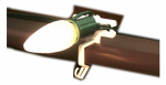 Adams Mfg 1400050102 Gutter Light Clip, Commercial Grade, T-Style, 50-Ct.