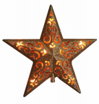 Noma/Inliten-Import V49136 Christmas Tree-Top Star, Gold Glitter, 10-Light