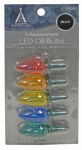 Noma/Inliten-Import 11200-88 Christmas Lights LED Replacement Bulb, C6, Multi-Color, 5-Pk.
