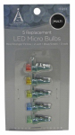 Noma/Inliten-Import 11206-88 Christmas Lights LED Replacement Bulb, Micro, Multi-Color, 5-Pk.