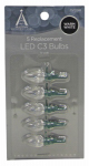 Noma/Inliten-Import 11224-88 Christmas Lights LED Replacement Bulb, C3, Warm White, 5-Pk.