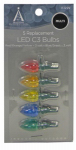 Noma/Inliten-Import 11225-88 Christmas Lights LED Replacement Bulb, C3, Multi-Color, 5-Pk.