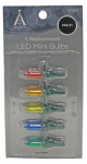 Noma/Inliten-Import 11222-88 Mini Christmas Lights LED Replacement Bulb, Multi-Color, 5-Pk.